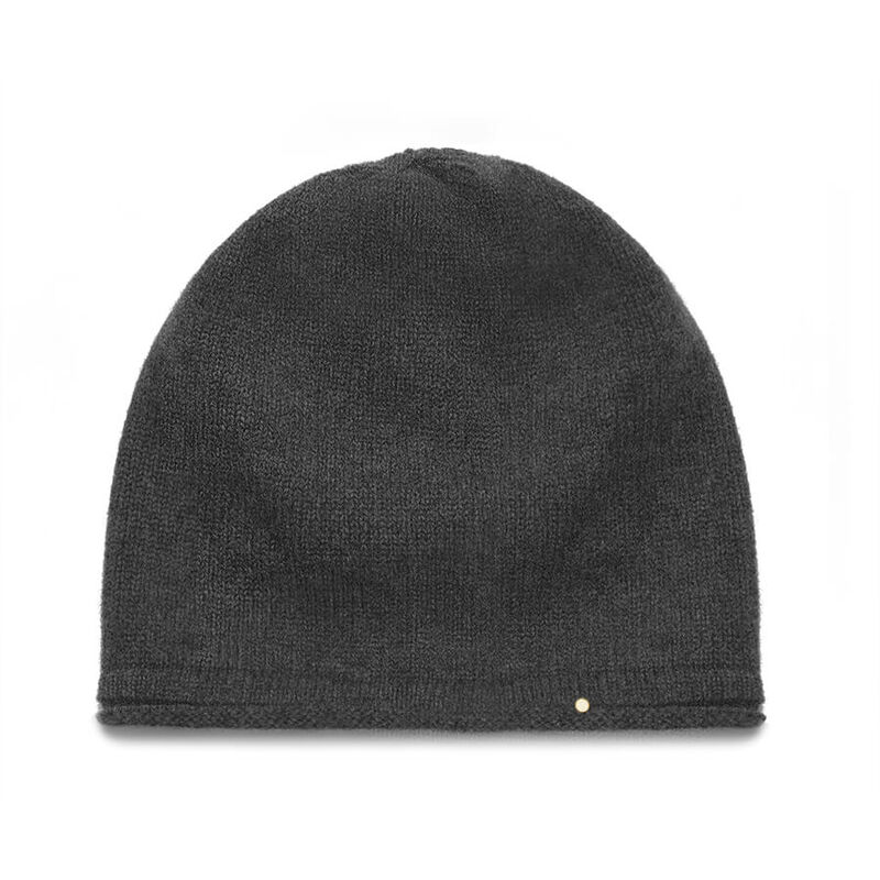 Cashmere Beanie in Charcoal