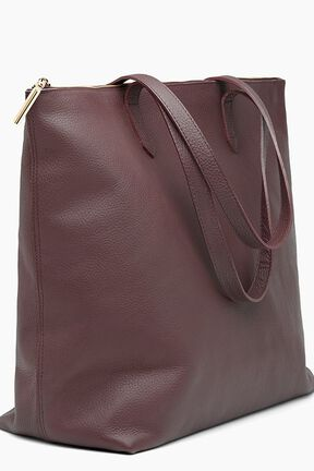 Classic Leather Zipper Tote