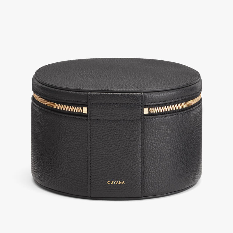 Leather Wellness Case in Black