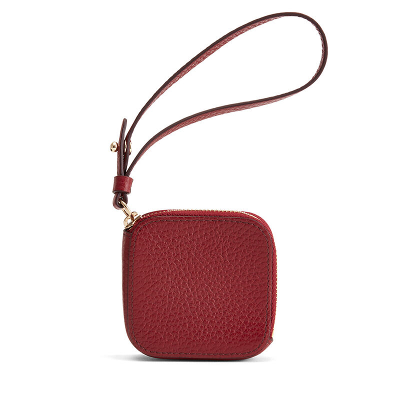 Leather Airpod Case in Ruby