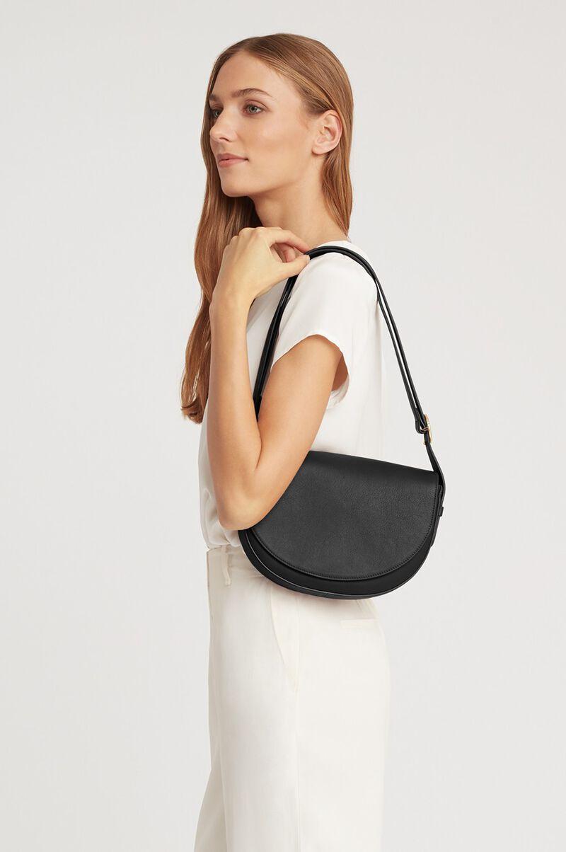 Half-Moon Shoulder Bag in Black
