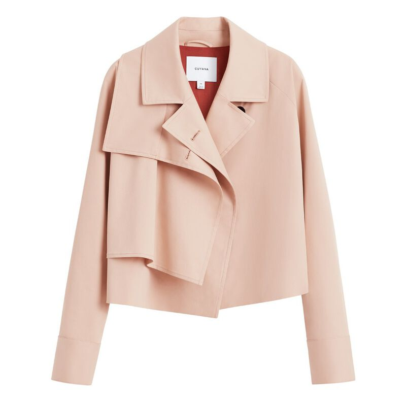 Cropped Trench in Soft Rose