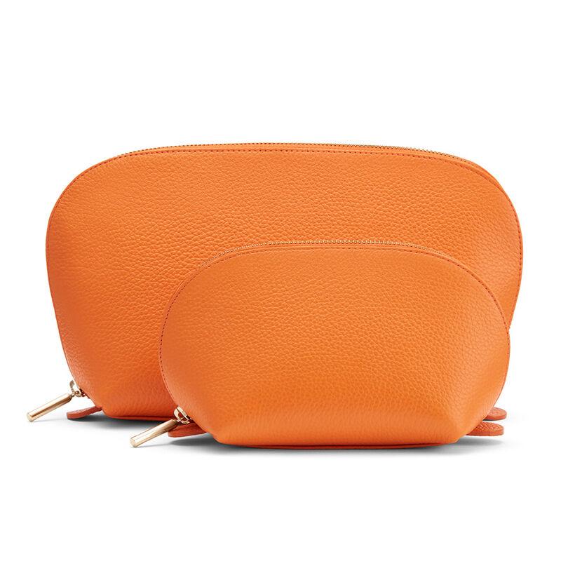 Leather Travel Case Set, Orange (Limited Edition), large