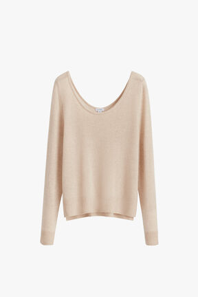Single-Origin Cashmere Scoop Neck Sweater