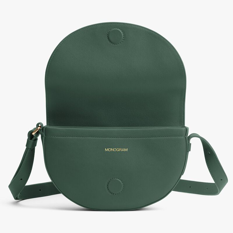 Half-Moon Mini Bag in Forest