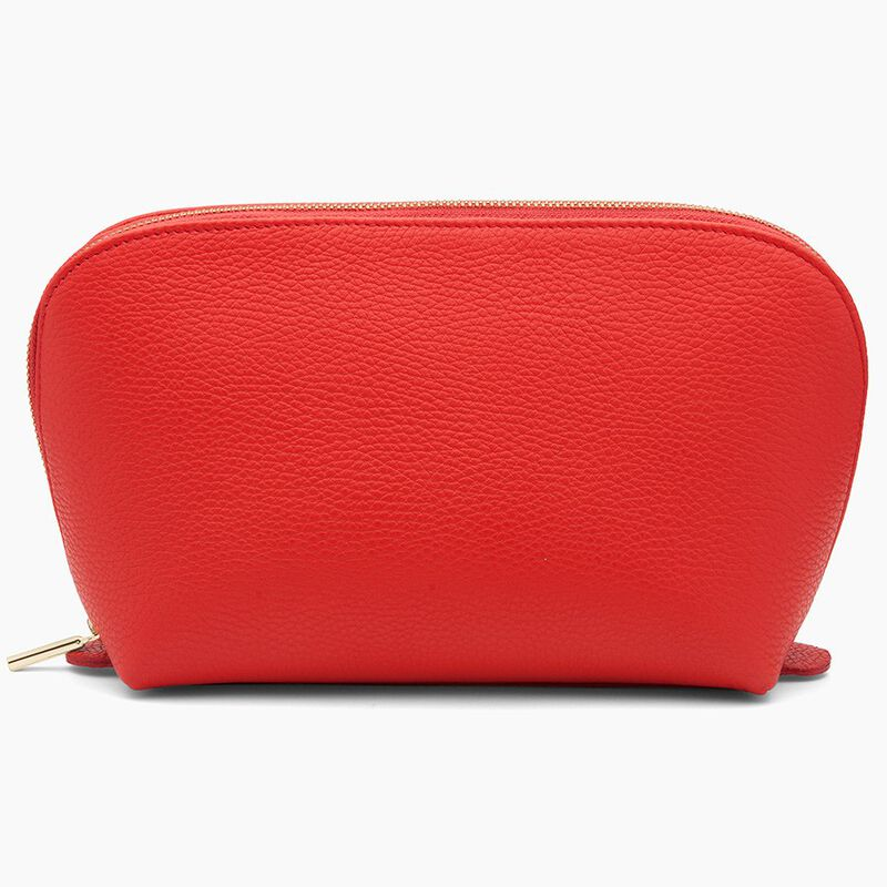 Leather Travel Case Set in Red
