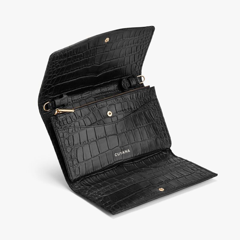 Convertible Clutch in Textured Black