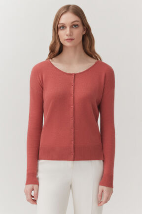 Single-Origin Cashmere Cardigan in Passion Fruit