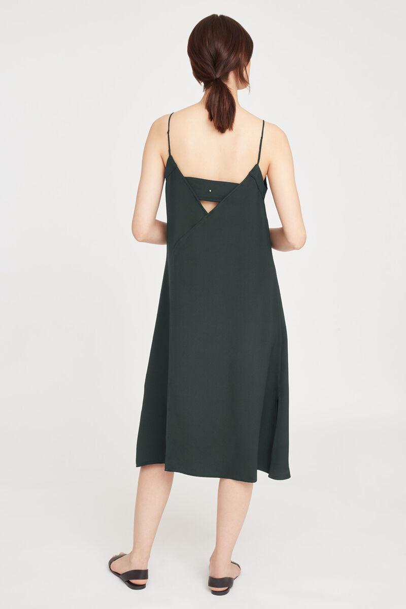 Silk Slip Dress, Forest, large