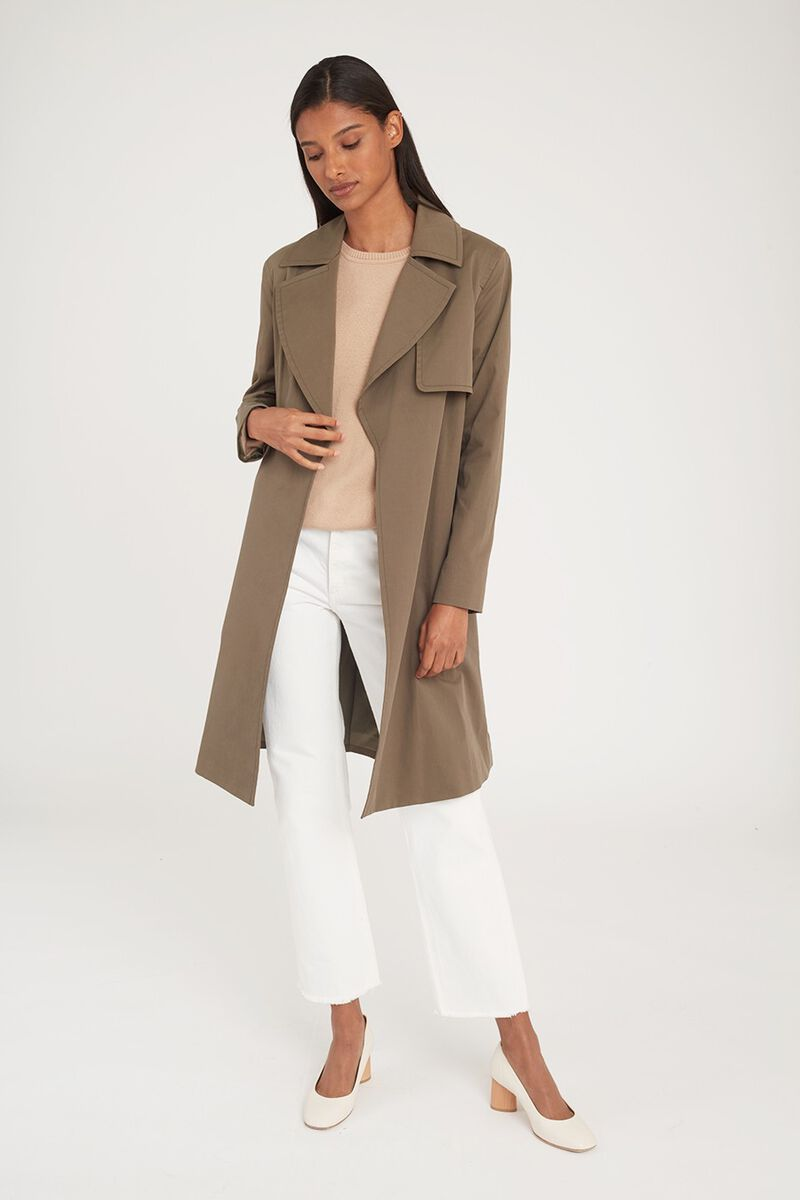 Classic Trench in Olive