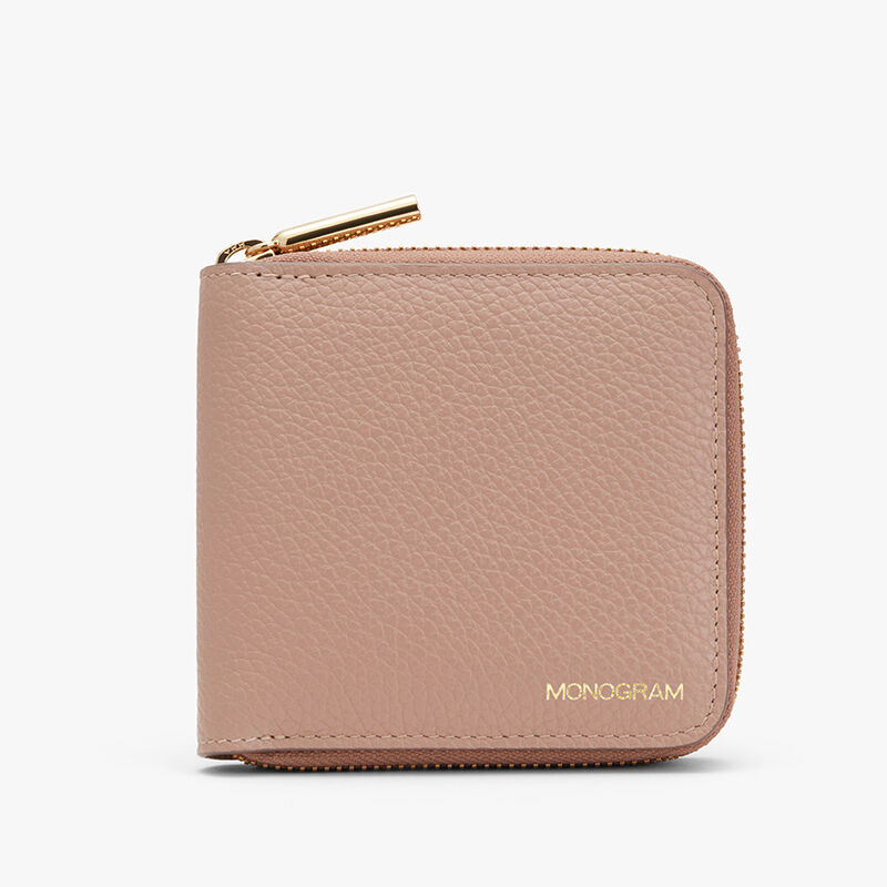 Small Classic Zip Around Wallet in Soft Rose