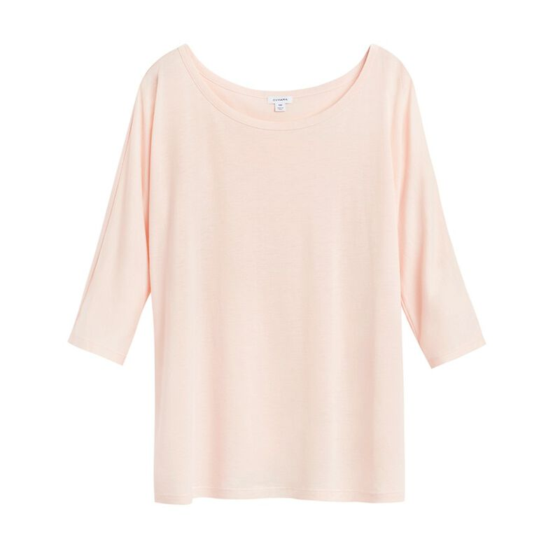 Pima Drape-Back Top in Blush