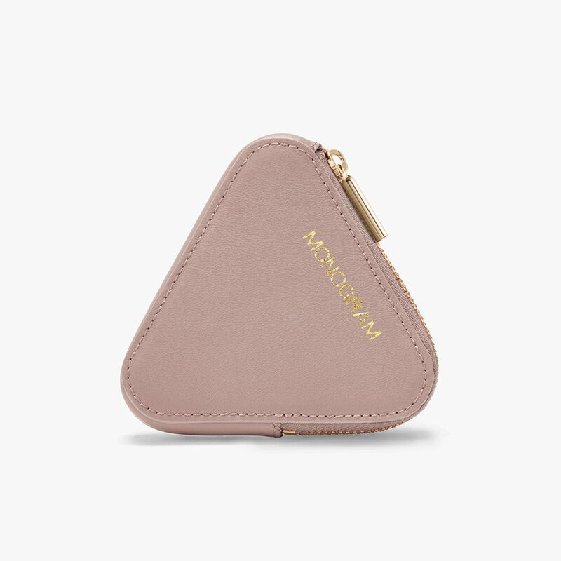 Triangle Pouch in Blush