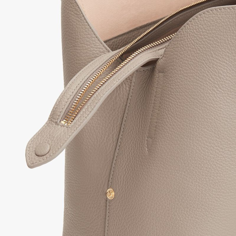Zippered Satchel in Stone