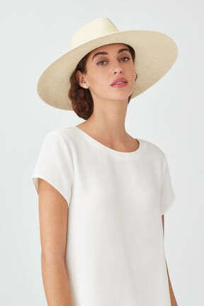 Wide Brim Summer Hat, Natural/Black, plp