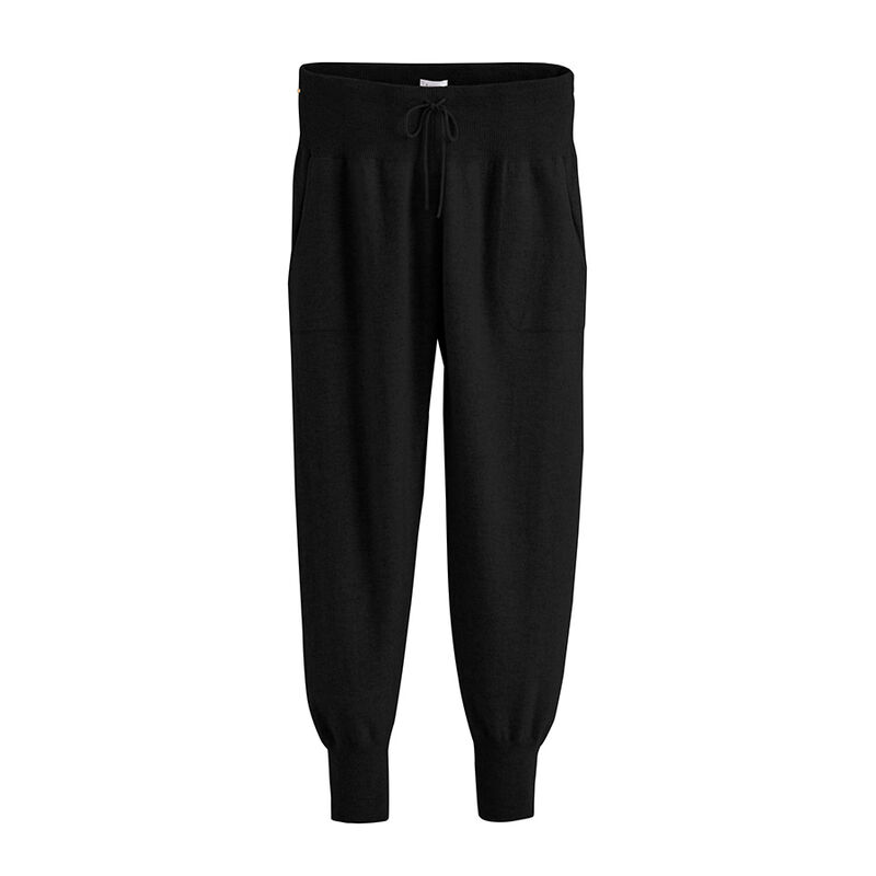 Cashmere Tapered Pant in Black