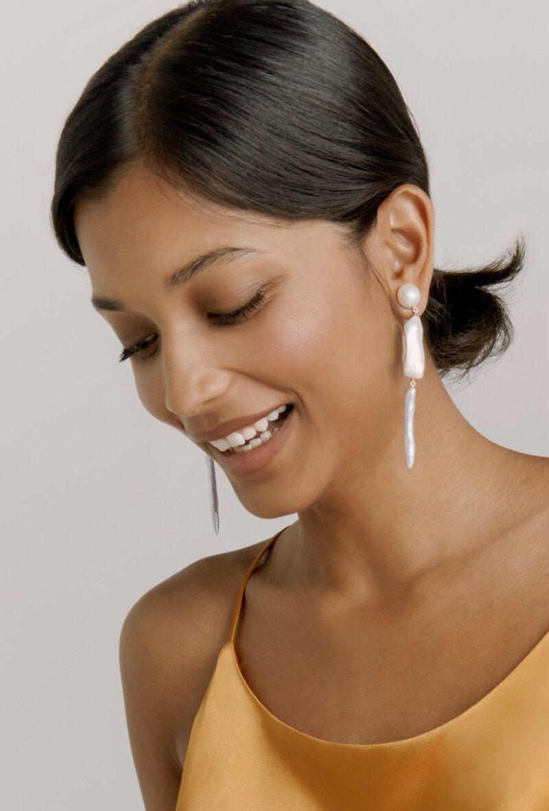 Georgia Earrings in Silver