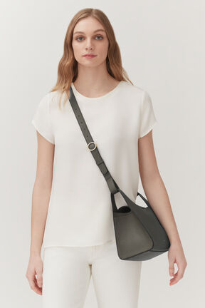 Double Loop Bag, Dark Olive, plp