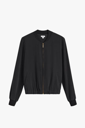 Washable Silk Bomber