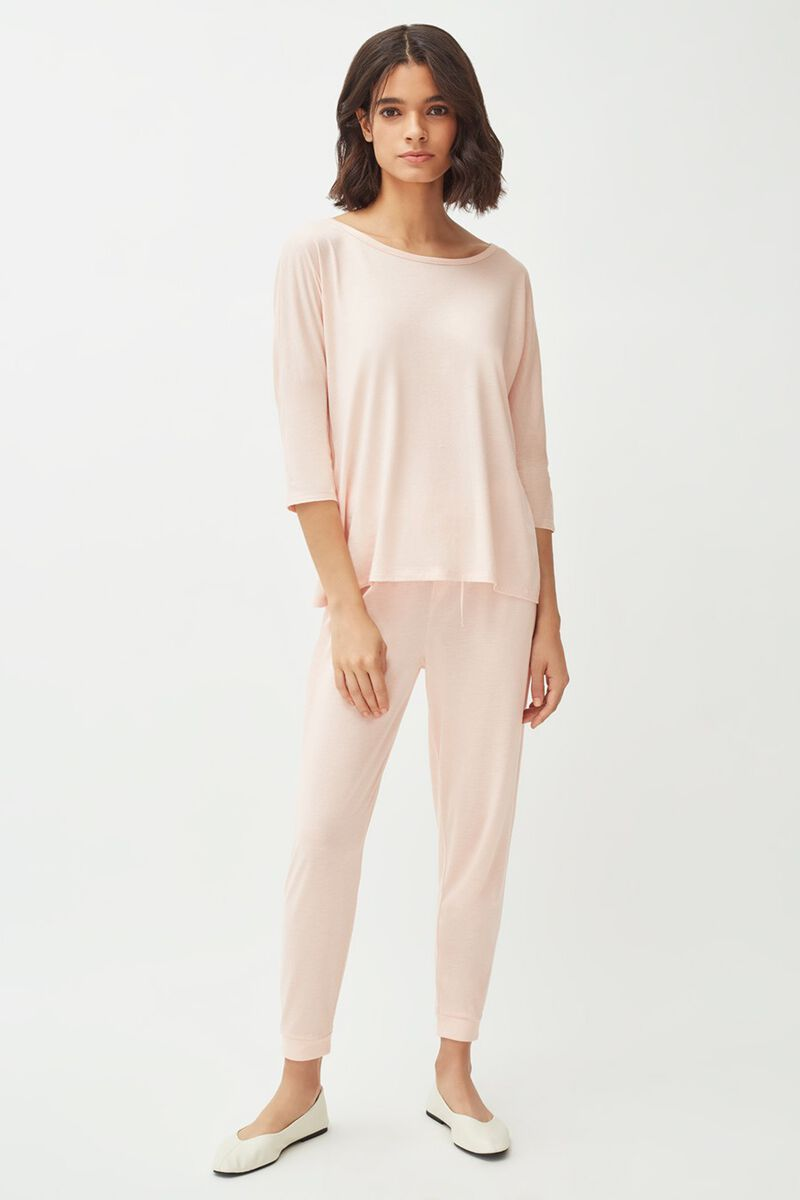 Pima Tapered Pant in Blush