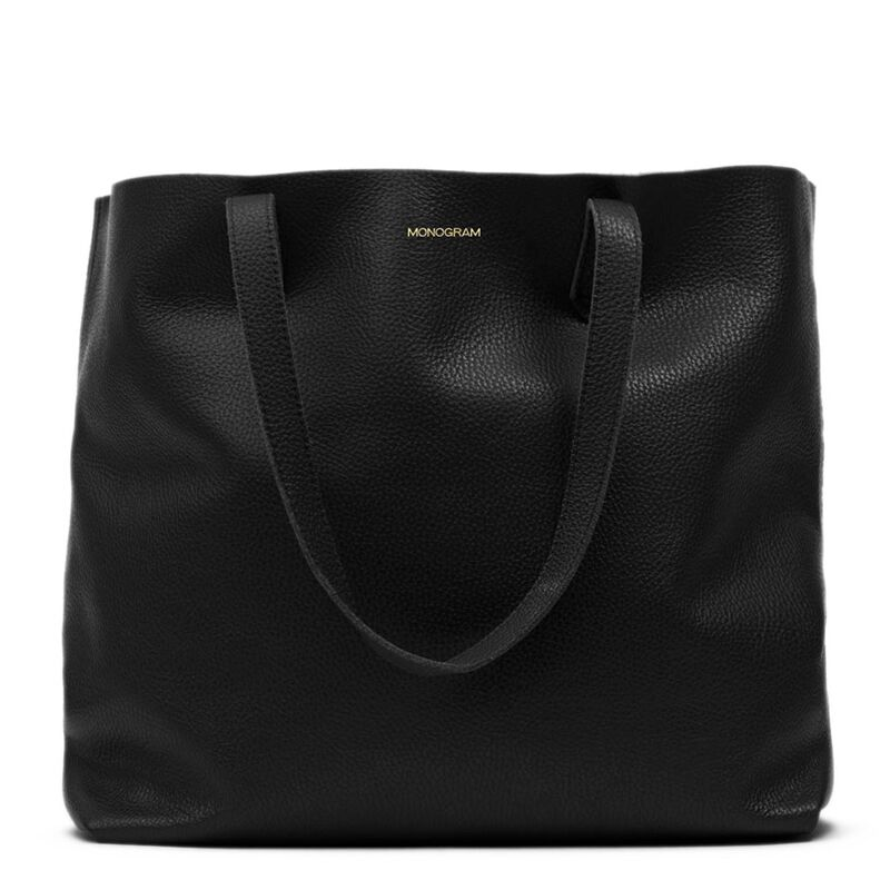 Classic Leather Tote in Black