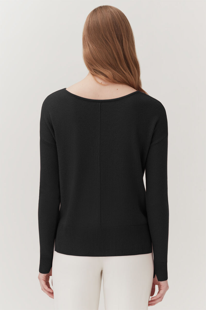 Single-Origin Cashmere Cardigan in Black