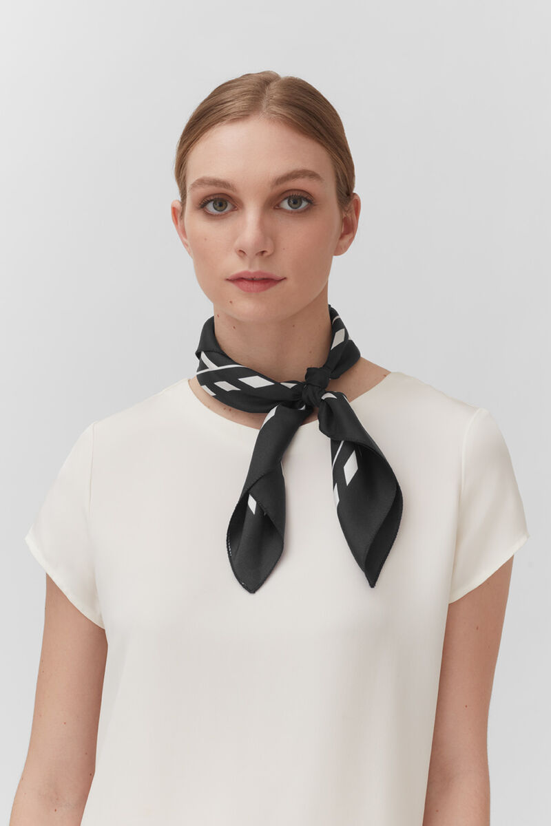 Washable Silk Bandana in Black