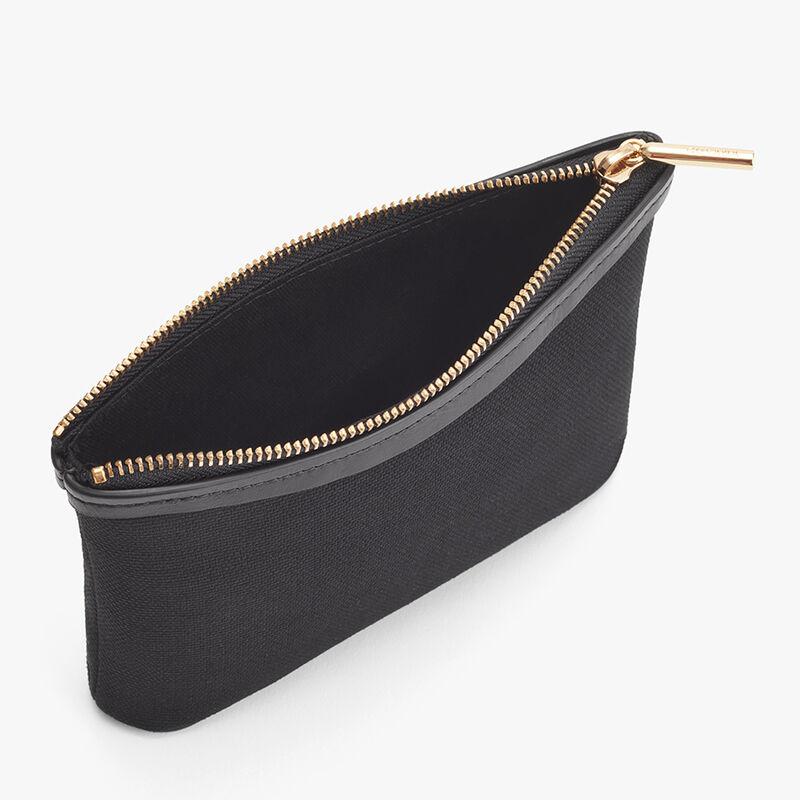 Mini Canvas Zipper Pouch in Black