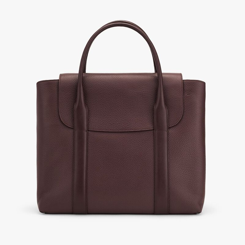 Trapeze Satchel in Burgundy
