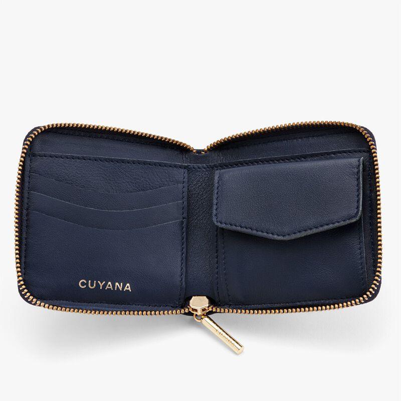 Small Classic Zip Around Wallet in Navy