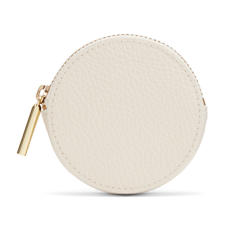 Leather Coin Pouch in Ecru