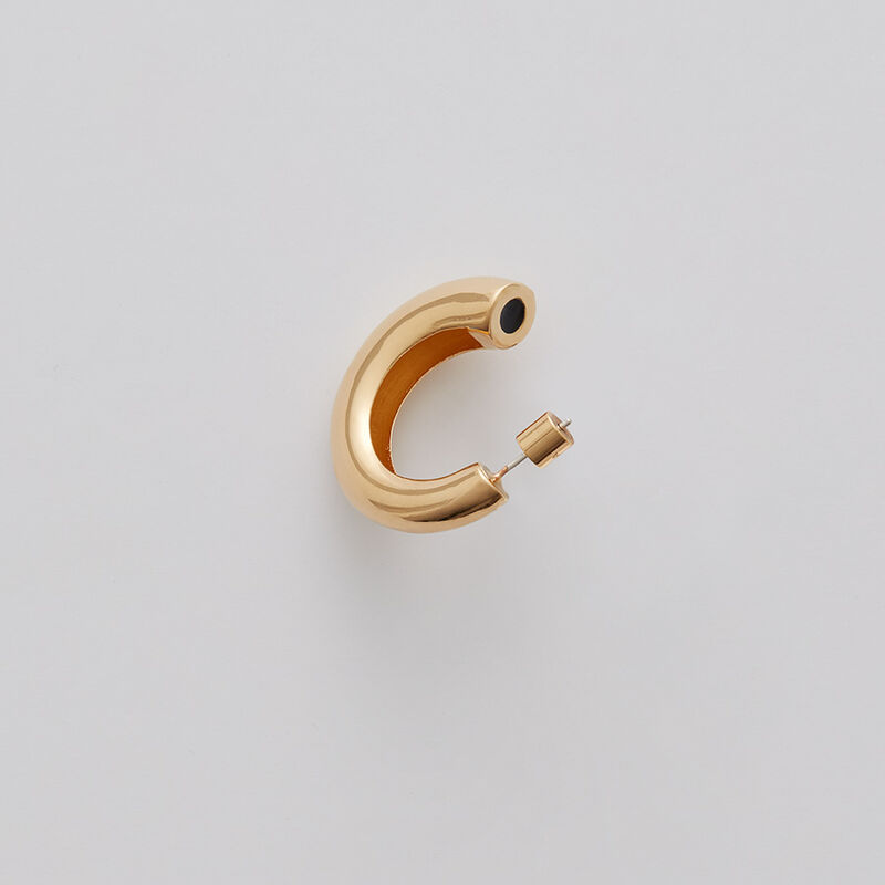Crescent Hoop Earrings in Gold