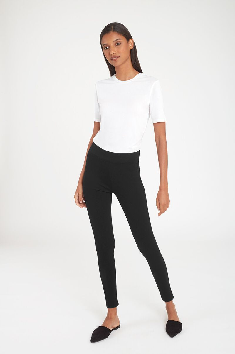 Ponte Legging Pant in Black