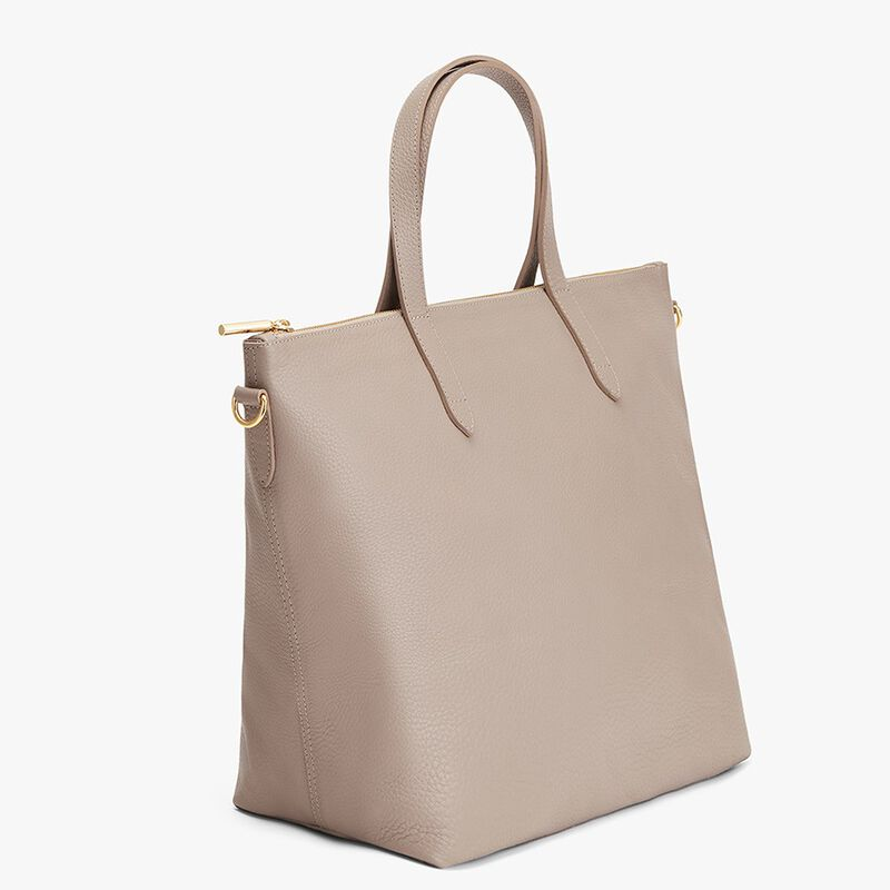 Oversized Carryall Tote in Stone