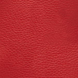 Medium Leather Zipper Pouch, Red, mono-swatch