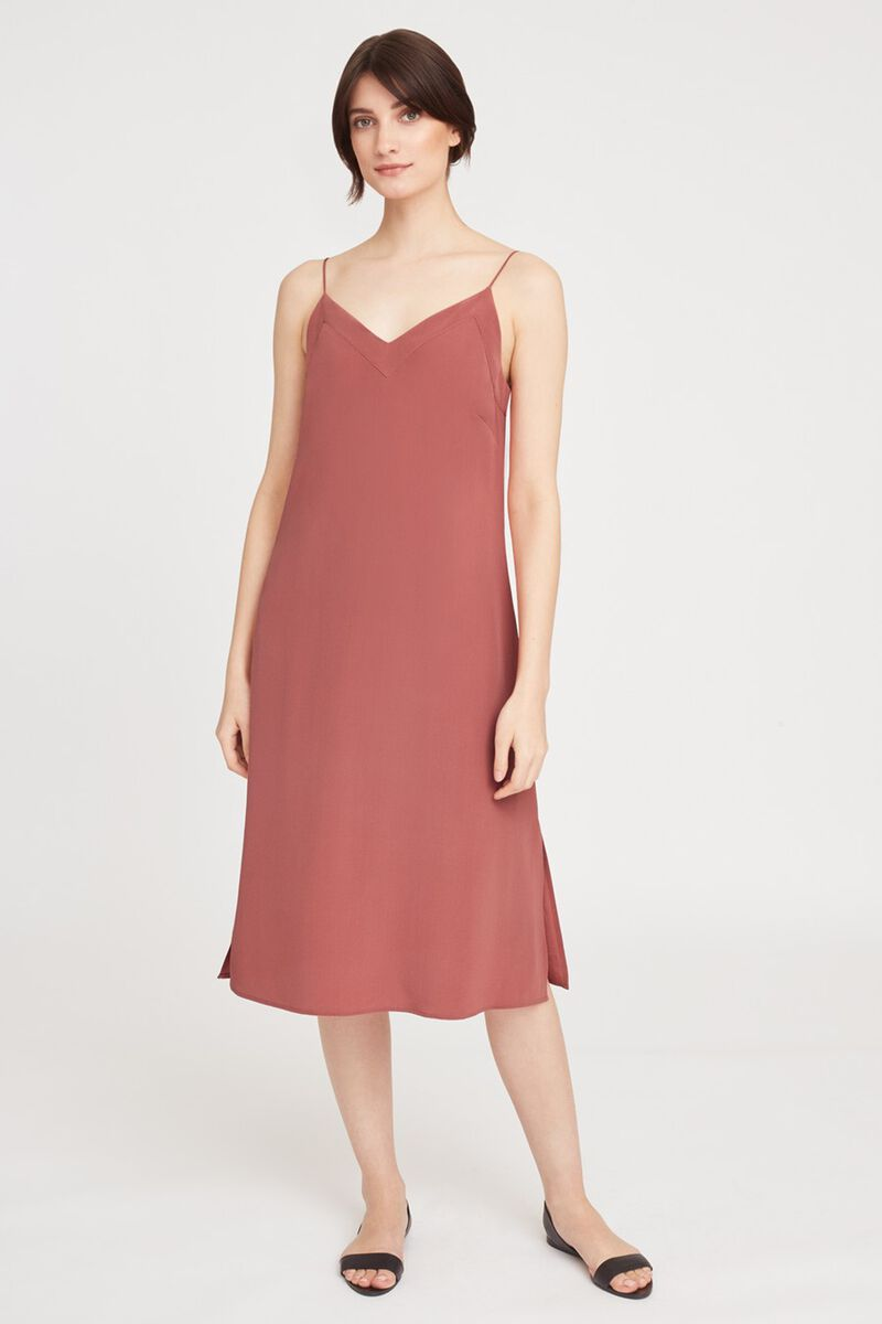 Silk Slip Dress in Passion Fruit