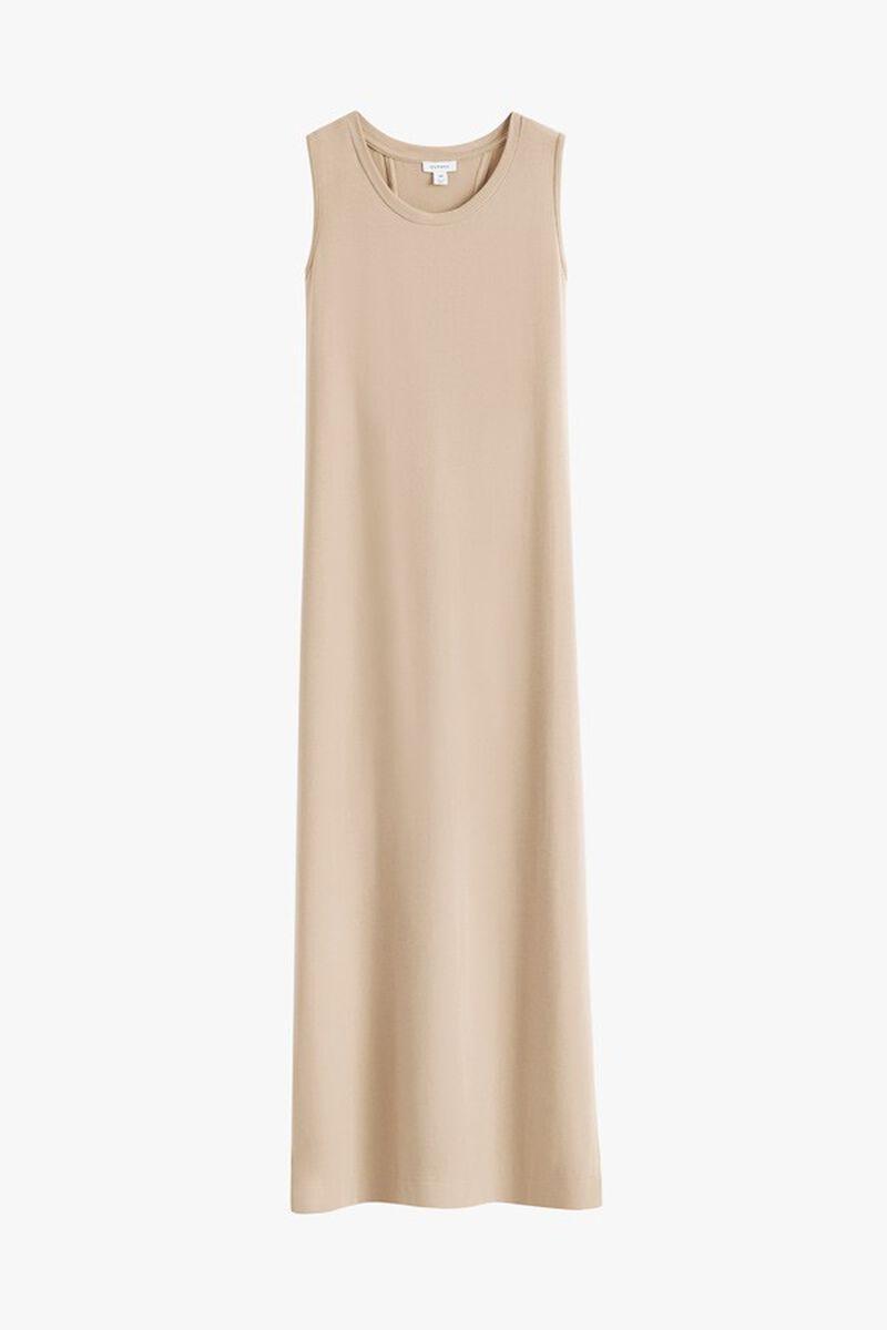 Drape-Back Dress in Dune