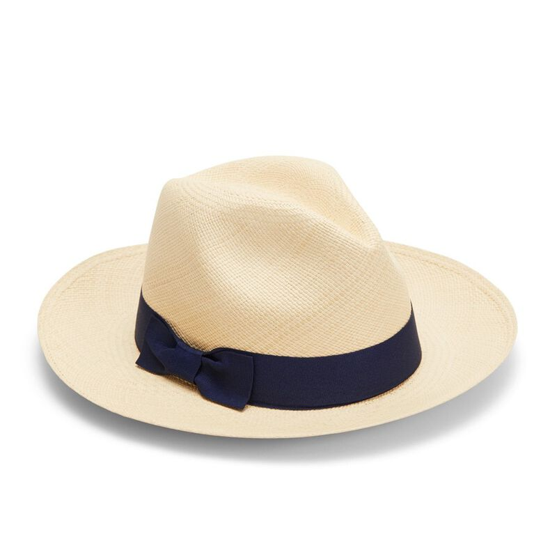 Panama Hat in Natural/Navy