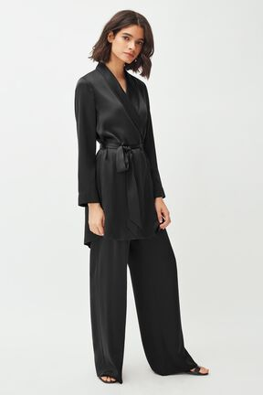 Charmeuse Wide-Leg Pant