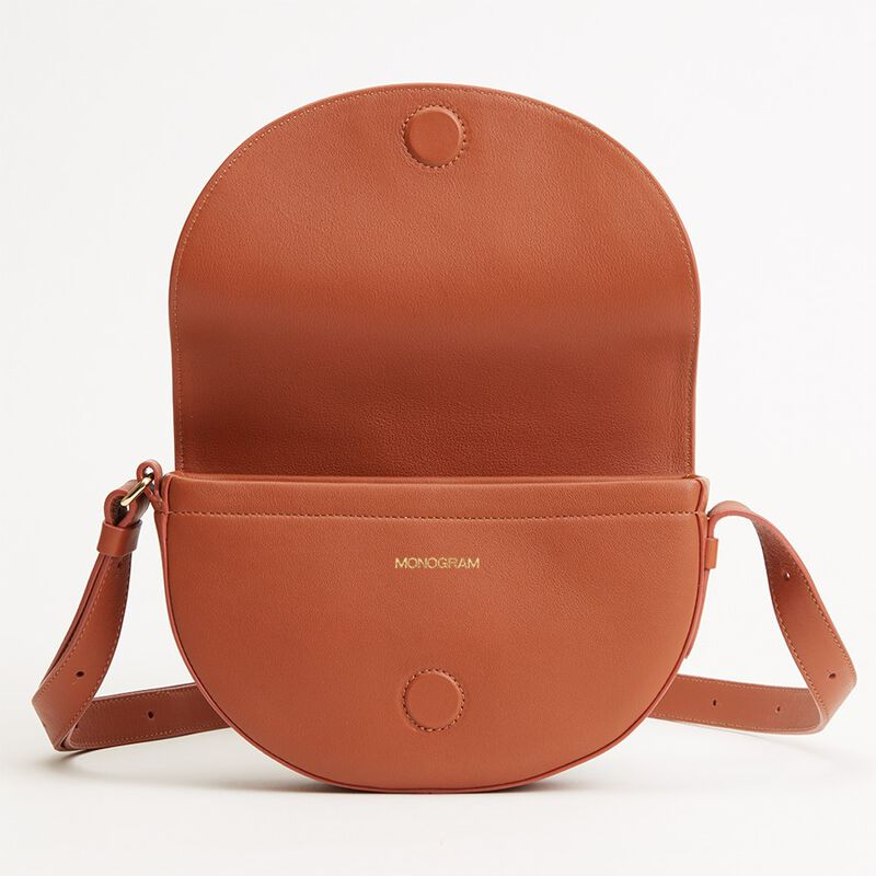 Half-Moon Mini Bag in Caramel