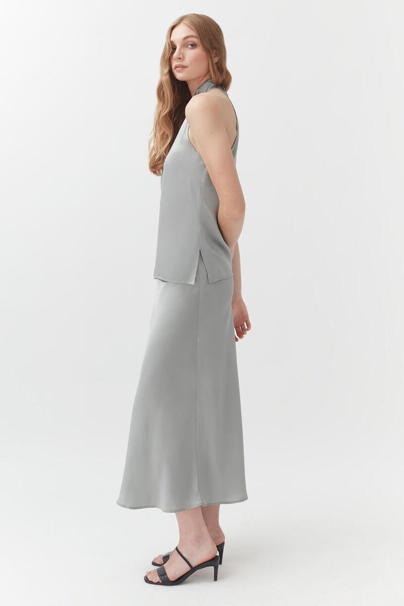 Charmeuse Midi Skirt in Sage