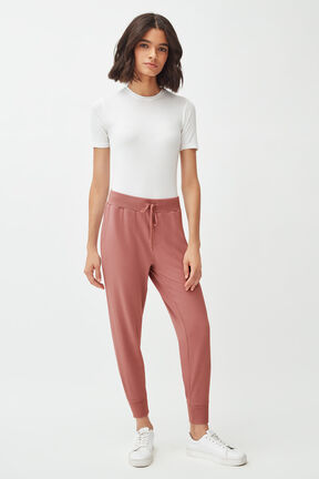 French Terry Tapered Lounge Pant in Passion Fruit