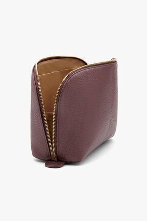 Leather Travel Case Set, Burgundy, plp