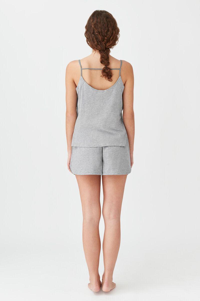 Pima Sleep Shorts in Heather Grey