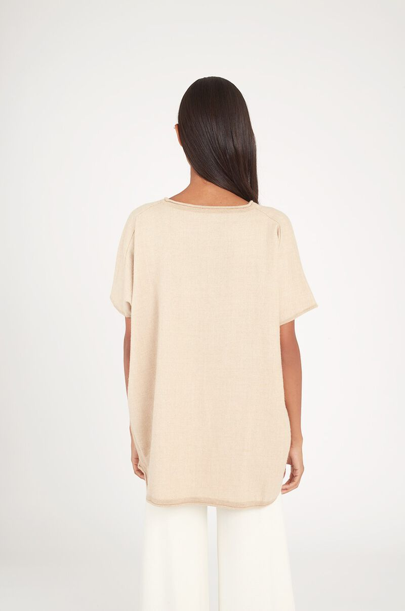 Oversized Alpaca Sweater in Beige