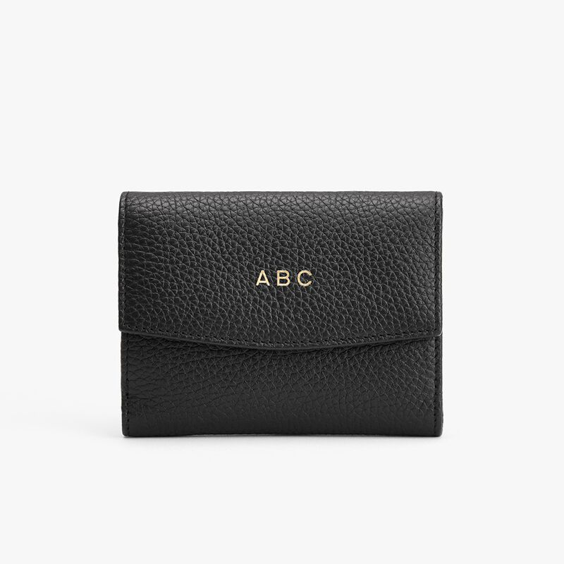 Classic Small Flap Wallet in Black