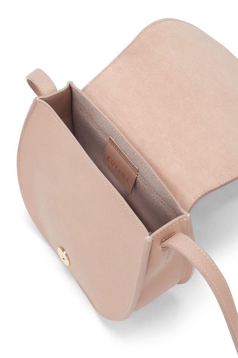 Mini Saddle Bag in Nude