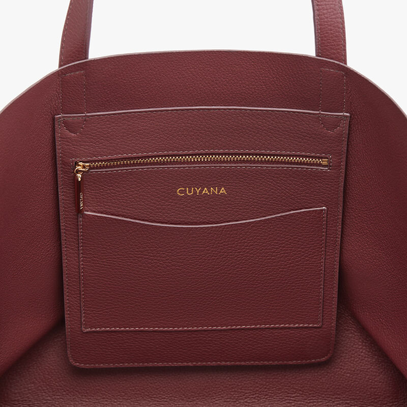 Classic Leather Tote in Merlot - Painted