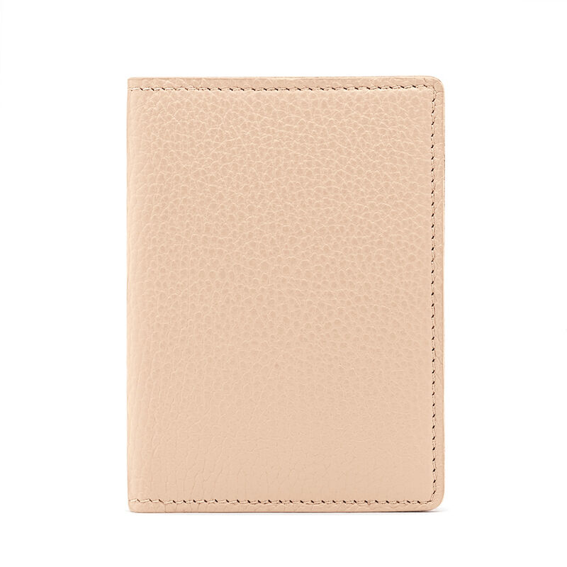 Slim Leather Passport Case in Blush