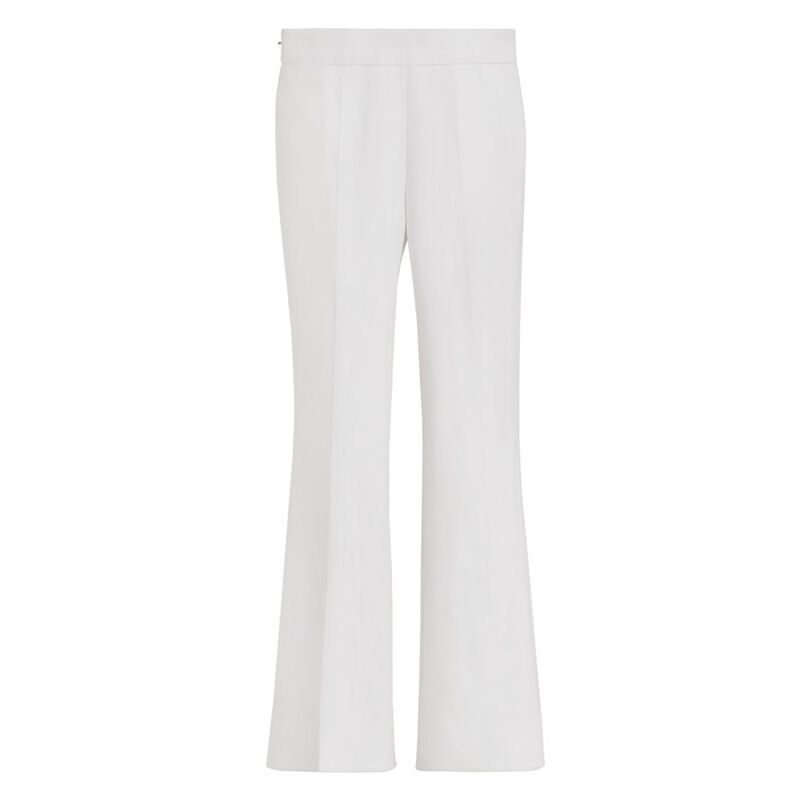Cotton Twill Flared Pant in Ecru